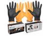 Black-Fire Nitrile Gloves Large