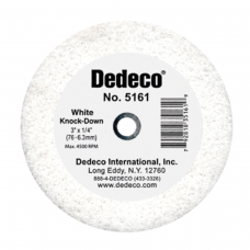 White Knock-Down Wheel 3''X1/4''