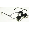 Feather Sight Loupes & Feather Light LED Combo:  #FT1 Standard Frame - Flip-Up (2.5x Magnification)